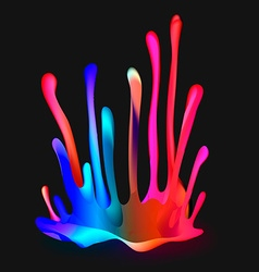 Colorful Drop Paint Splatter Background vector image