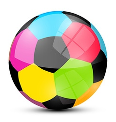 Colorful Soccer Football Ball Isolated on White vector image vector image