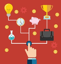 Concept of a business and entrepreneurship vector