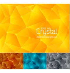 crystal abstract background 2 vector image vector image