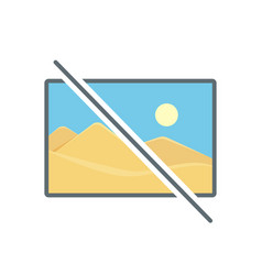 Disable image no photo photography picture icon vector