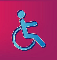 Disabled sign blue 3d vector