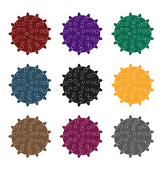 dog ballpet shop single icon in black style vector image vector image