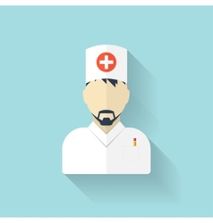 Flat medical doctor icon account profile avatar vector