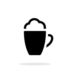 Foam Coffee simple icon on white background vector image