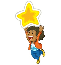 Girl and star vector image