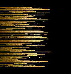 Gold texture lines decoration on the black vector
