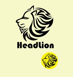 Head lion logo vector