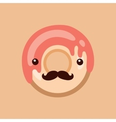 Hipster donut Delicious sweet dessert Modern cute vector image