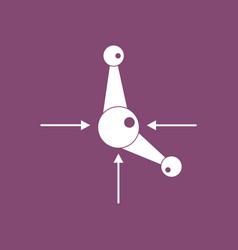 Icon atom and arrows vector