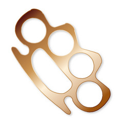 knuckle duster vector image
