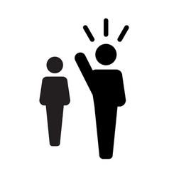Leader icon - man leadership vector