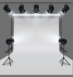 Lighting equipment and professional photography vector
