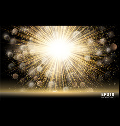 luxury design gold explosion on black background vector image