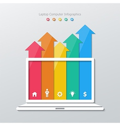 Paper laptop computer infographics vector