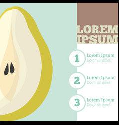 Pear fruit infrographic design vector