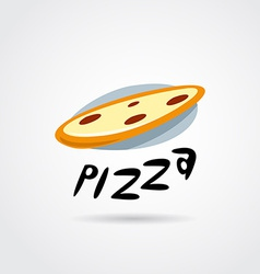pizza logo design vector image