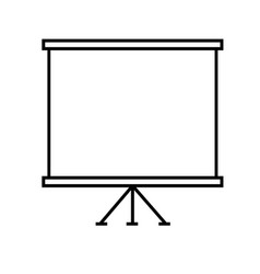 presentation slide board icon vector image