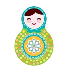 Russian dolls matryoshka on white background vector