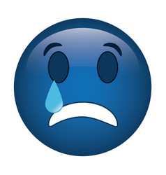 sad emoticon style icon vector image