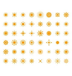 Set of sun images for you design vector image vector image