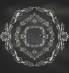 set of vintage chalk frames vector image vector image
