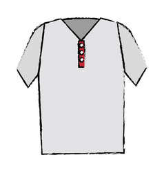 Shirt golf uniform icon vector