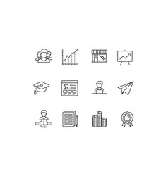 silhouette statups new business icon sets vector image vector image