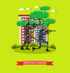 Special forces in flat style vector