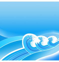 summer business waves background vector image