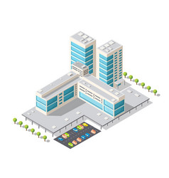 tourist hotel isometric vector image vector image