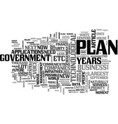 Where is our largest technological plan text word vector