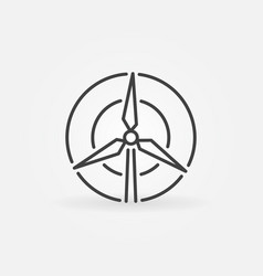 wind turbine concept icon vector image vector image