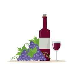 Wine production banner poster for red vine vector