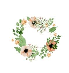 Wedding flower wreath vector image