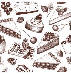 pattern with vinatge baking vector image