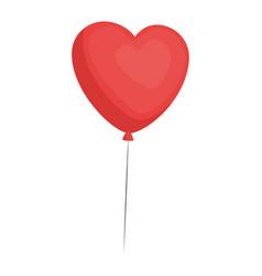 Cute heart balloons vector