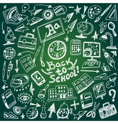 School education - doodles set vector image