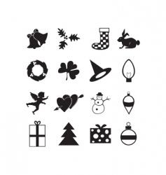 Holiday icon vector