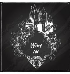 Wine list chalkboard label vector