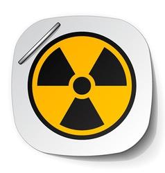 Radiation symbol label vector