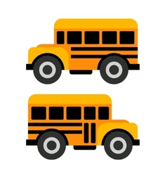 School bus icons in flat style vector