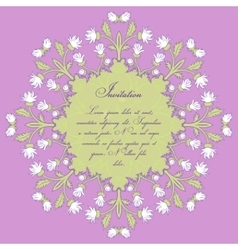 Wedding invitation cards with floral elements vector