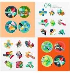 Modern geometric design temlates universal vector