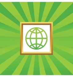 Globe picture icon vector