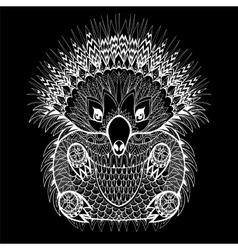 Hand drawn echidna australian animal vector