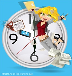End of the working day vector image