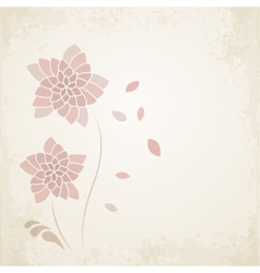Abstract floral background in vintage style vector image vector image