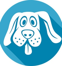 Dog icon vector