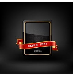 Frame with text on dark background vector image